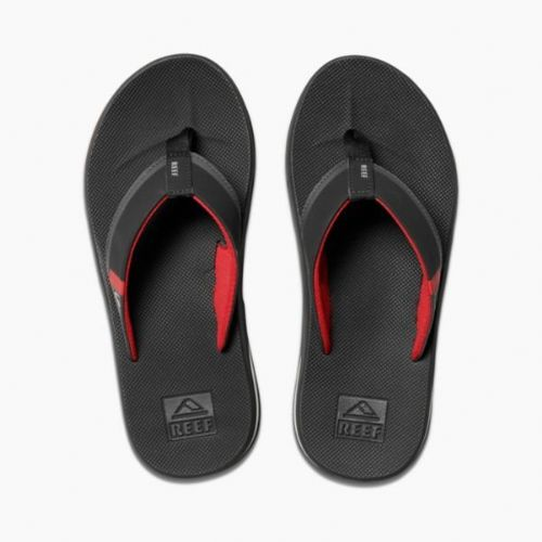 REEF MENS FLIP FLOPS.FANNING LOW BLACK ARCH SUPPORT THONGS SANDALS SHOES 8W 3 BR